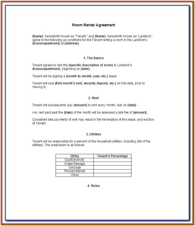 Form To Evict Tenant
