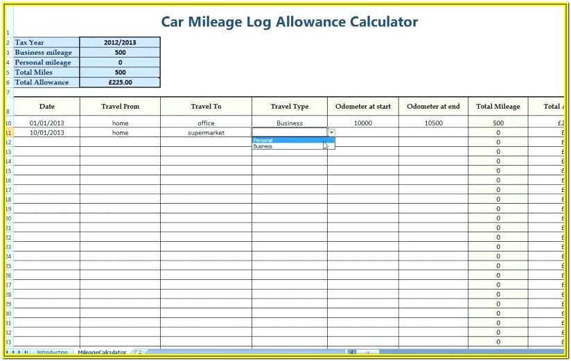 Free Mileage Log Forms