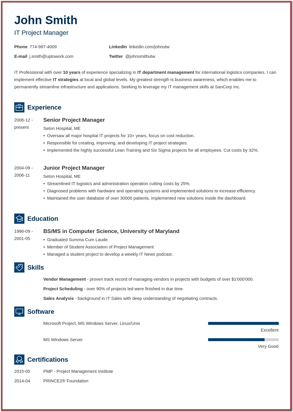 Free Resume Printable Forms