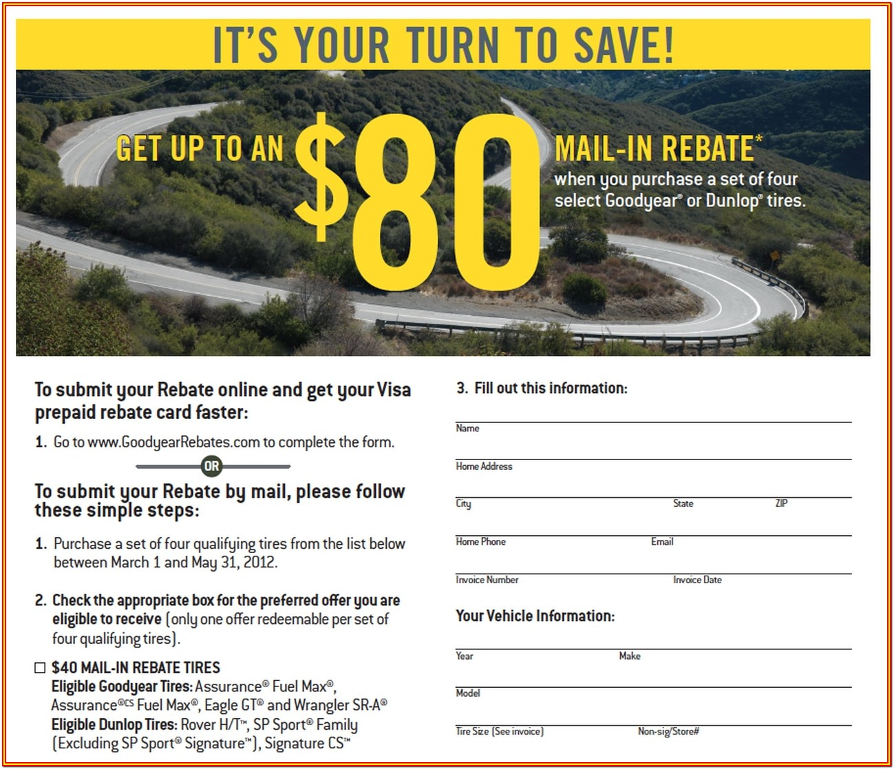Goodyear Rebate Forms 2019