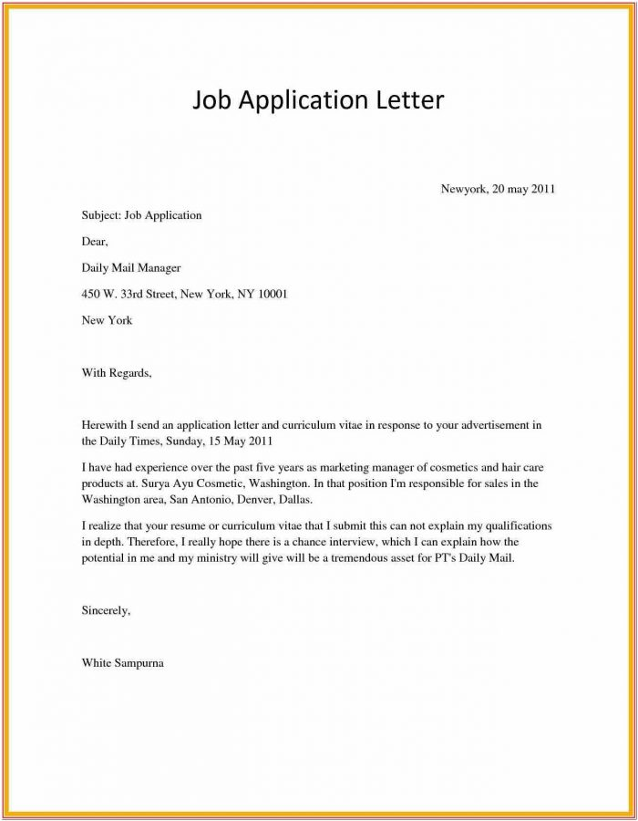 How To Write An Application Letter For Any Job Vacancy