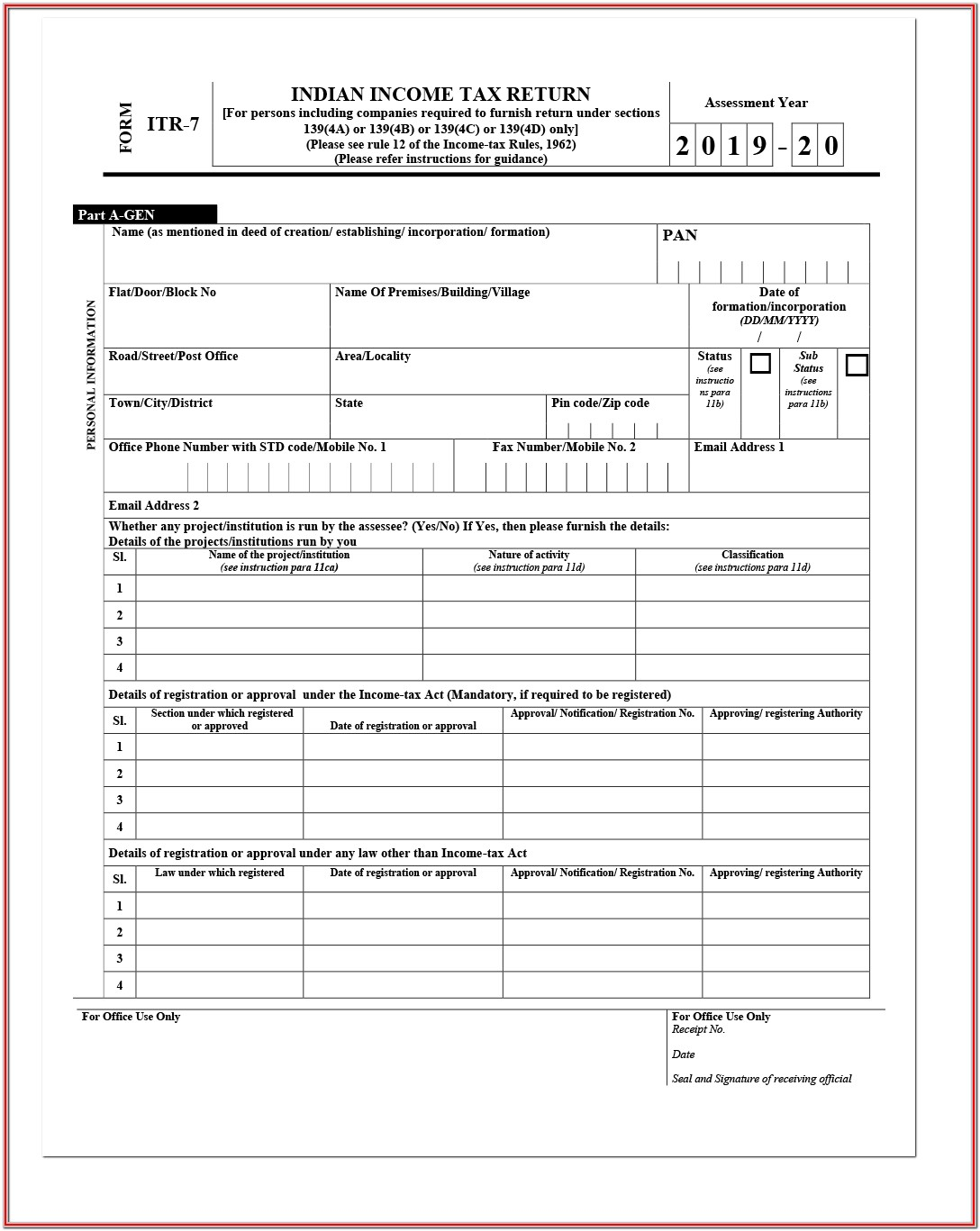 Income Tax Filing Form Download