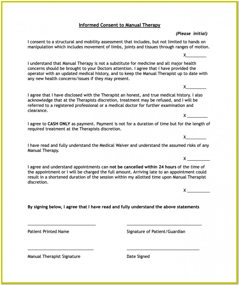 Intake Forms For Therapy