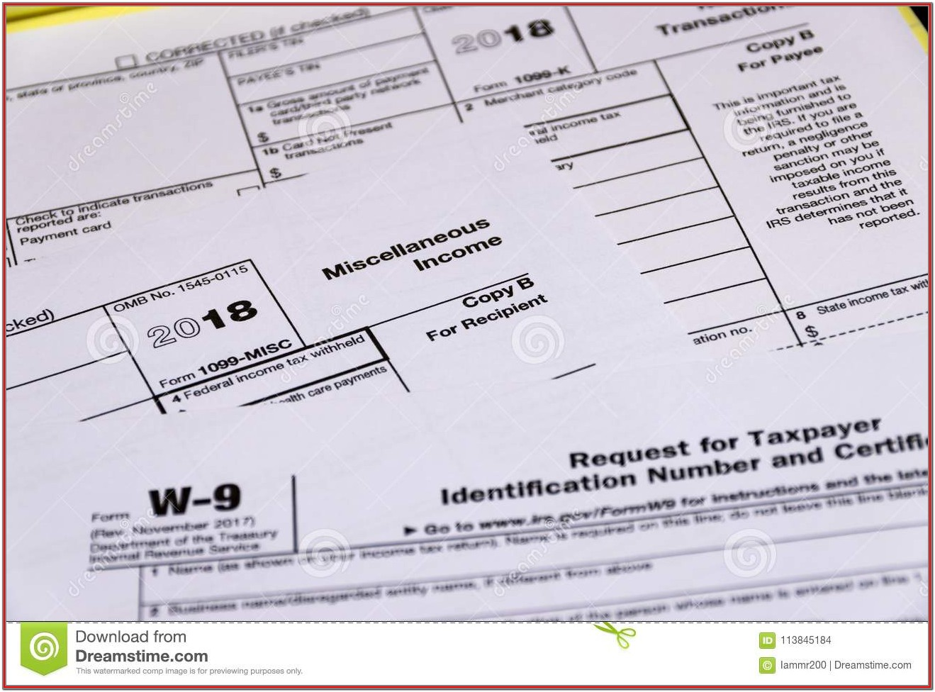 Irs 1099 Tax Forms