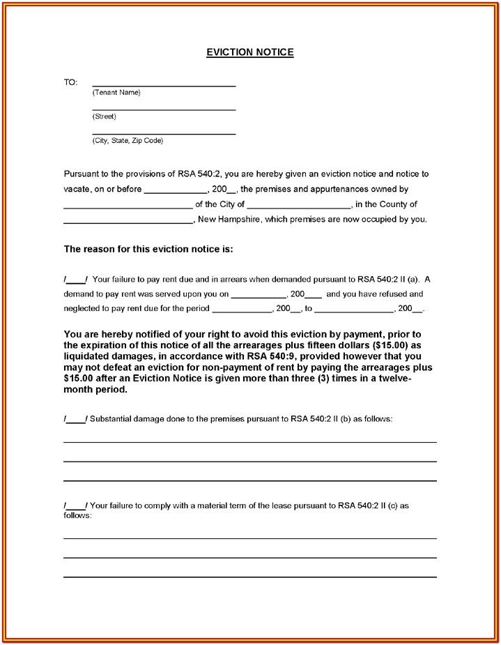 Landlord Eviction Forms