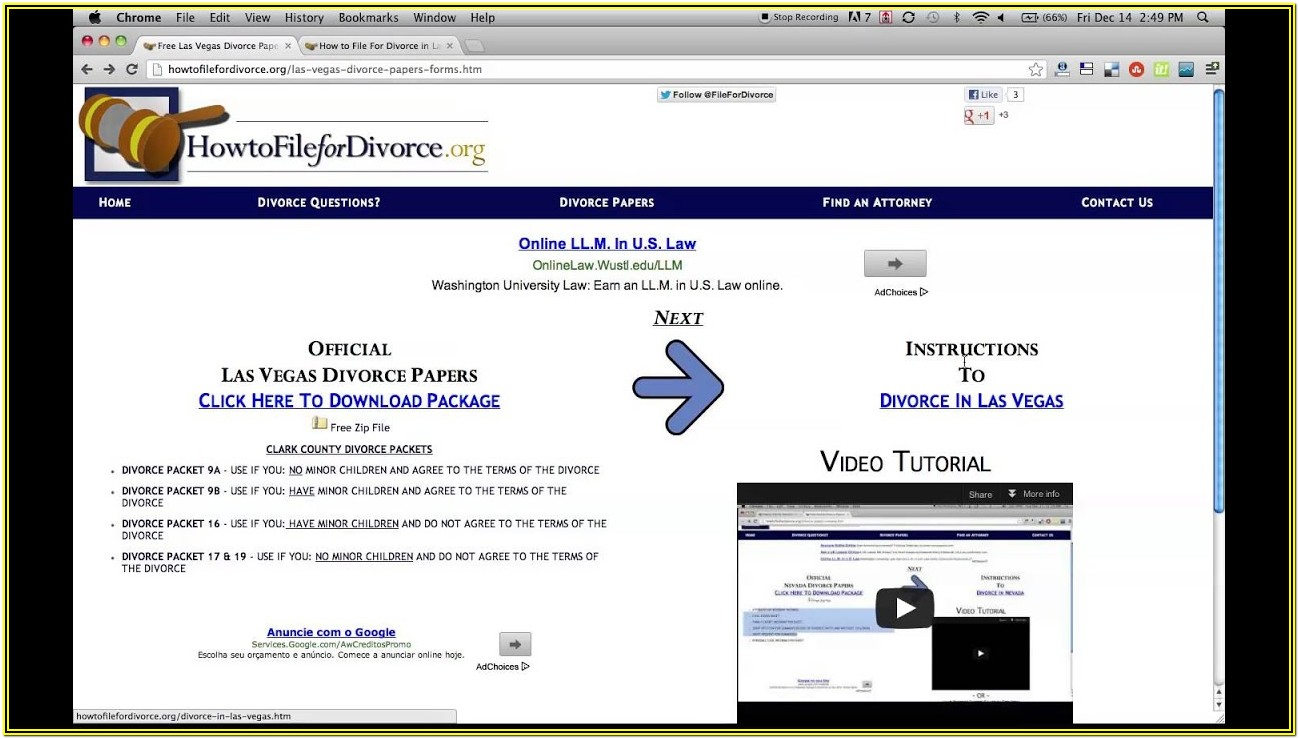 Las Vegas Divorce Forms