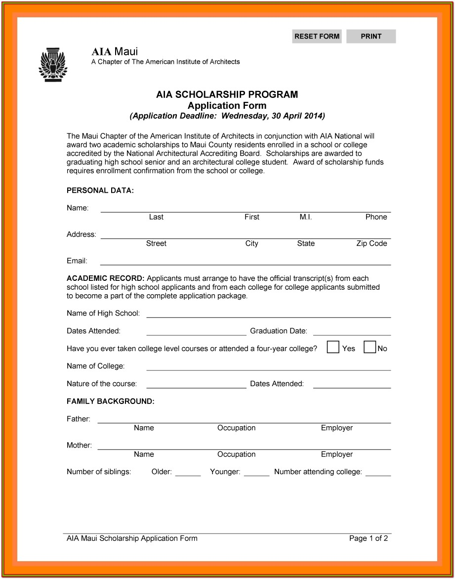 Minority Scholarship Application Form 2019 Pdf