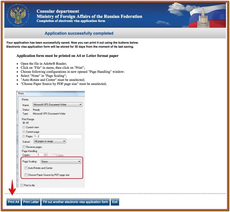 Online Russian Visa Application Form
