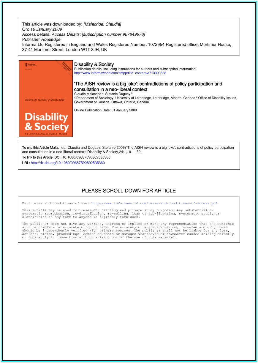 Ontario Disability Forms Online