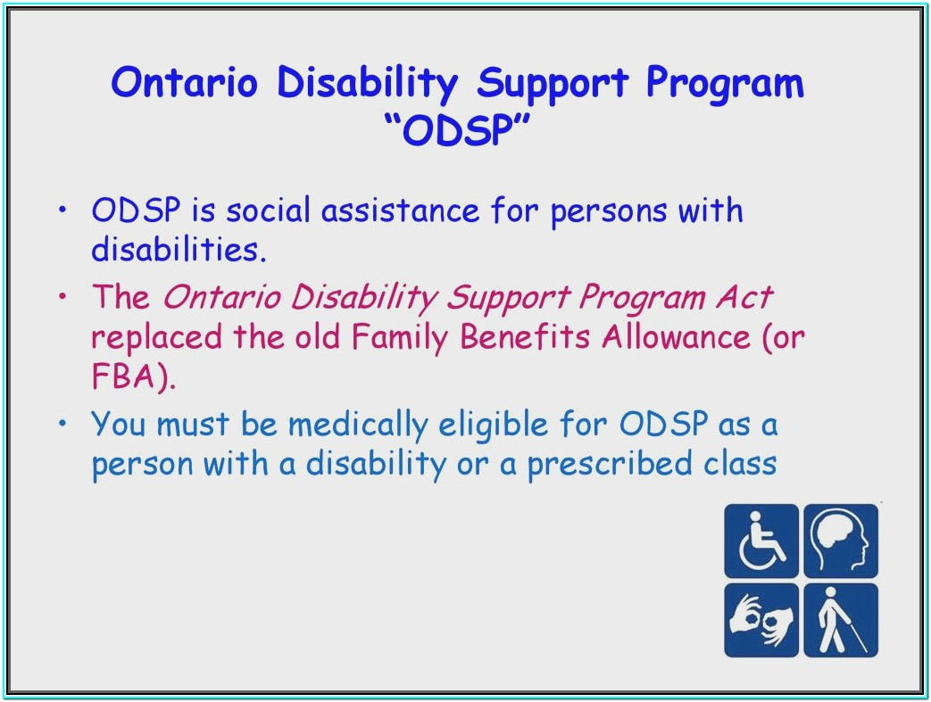 Ontario Disability Forms