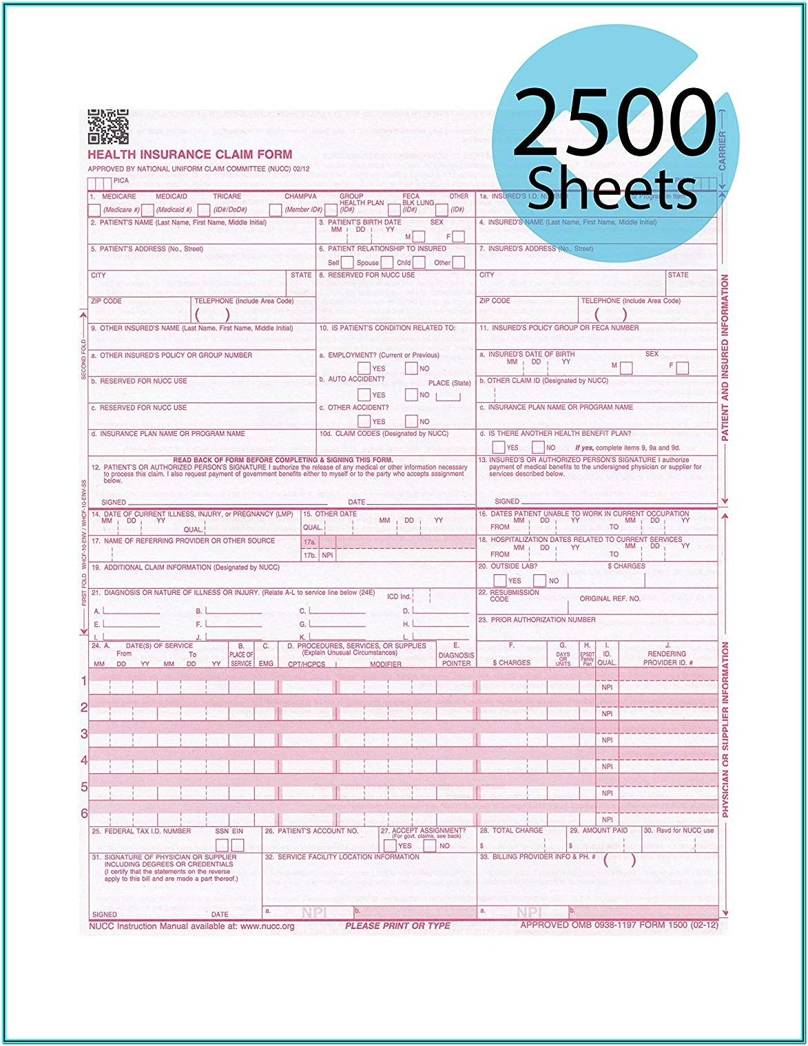 Order Cms 1500 Forms