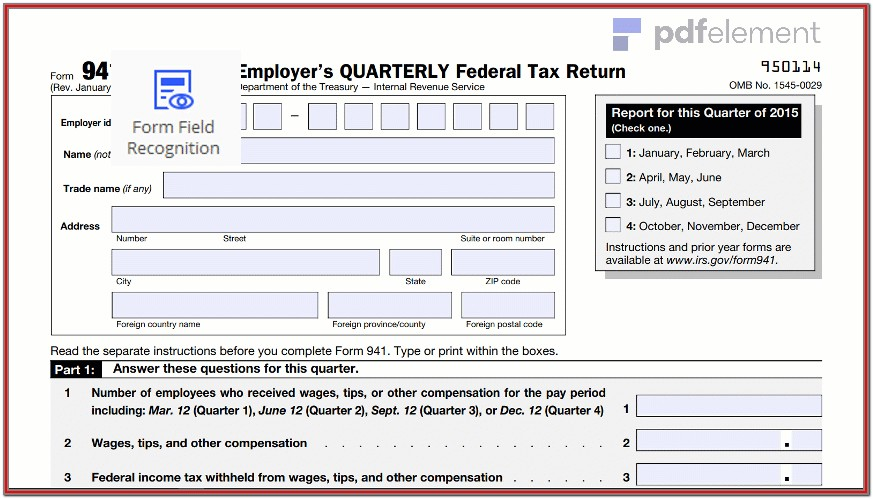 Printable 941 Form For 2018 (20)