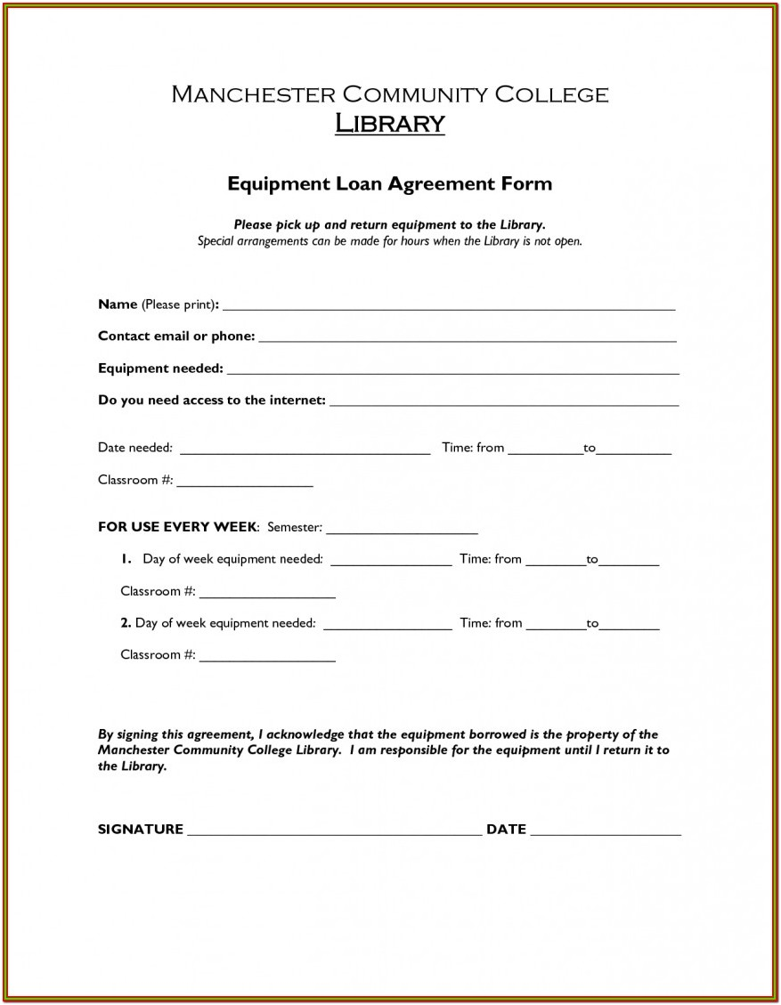 Printable Loan Agreement Form Pdf