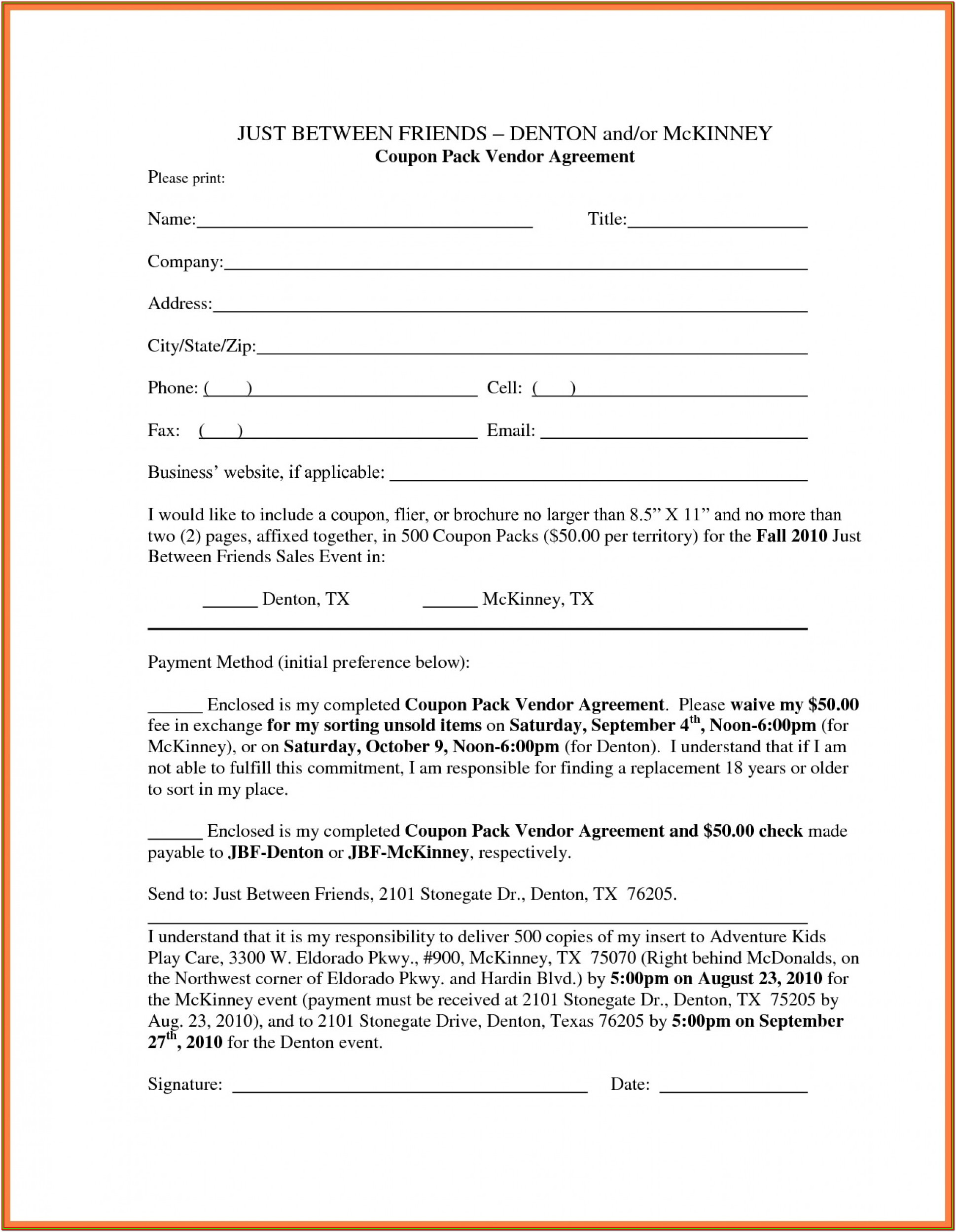 Printable Loan Agreement Form