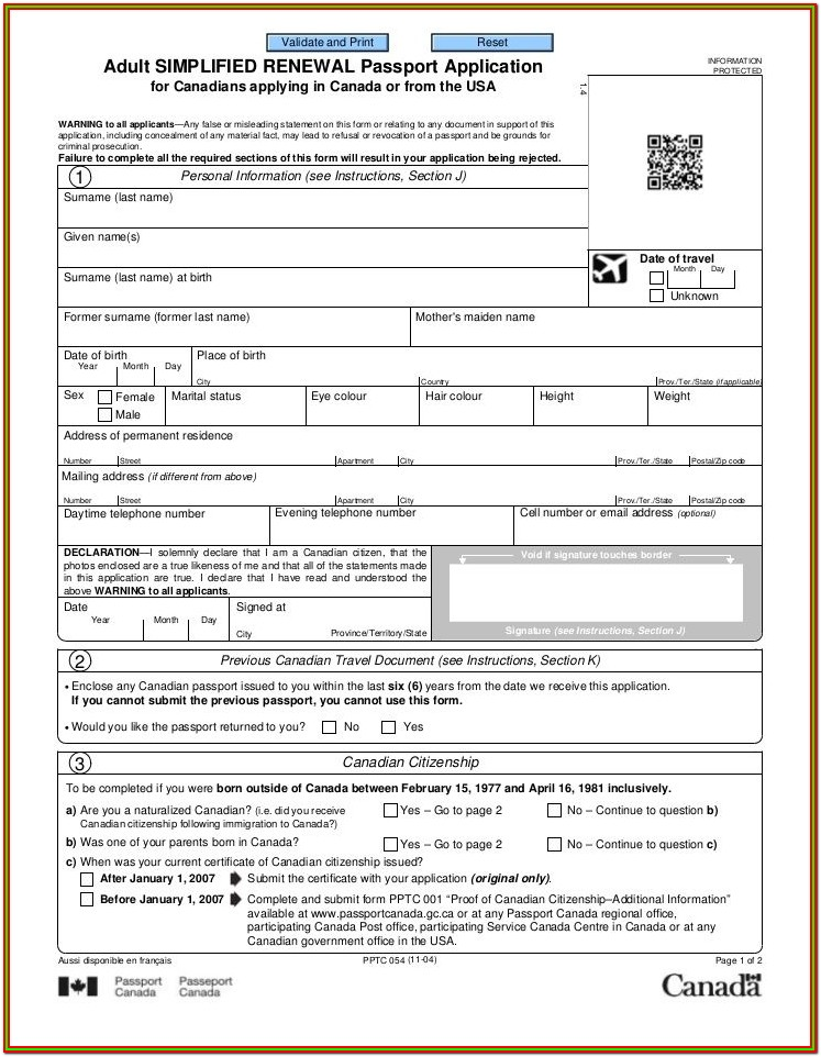 Printable Philippine Passport Renewal Form Pdf