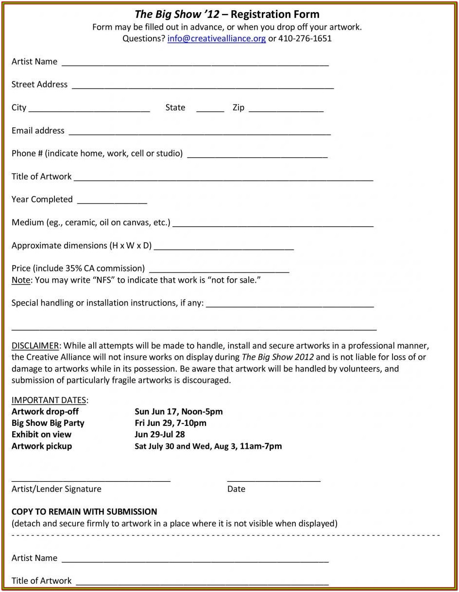Printable Template Loan Agreement Form