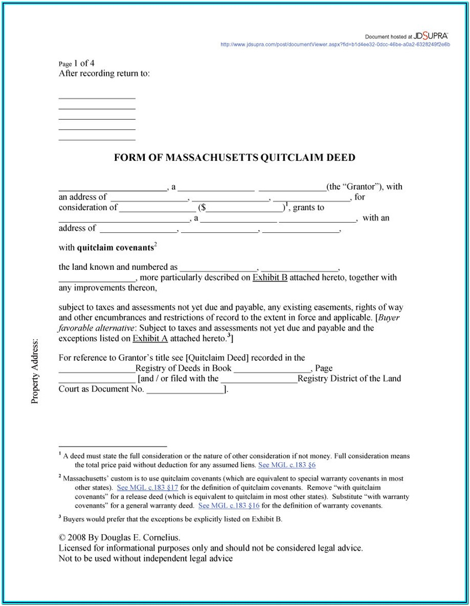 Quit Deed Forms