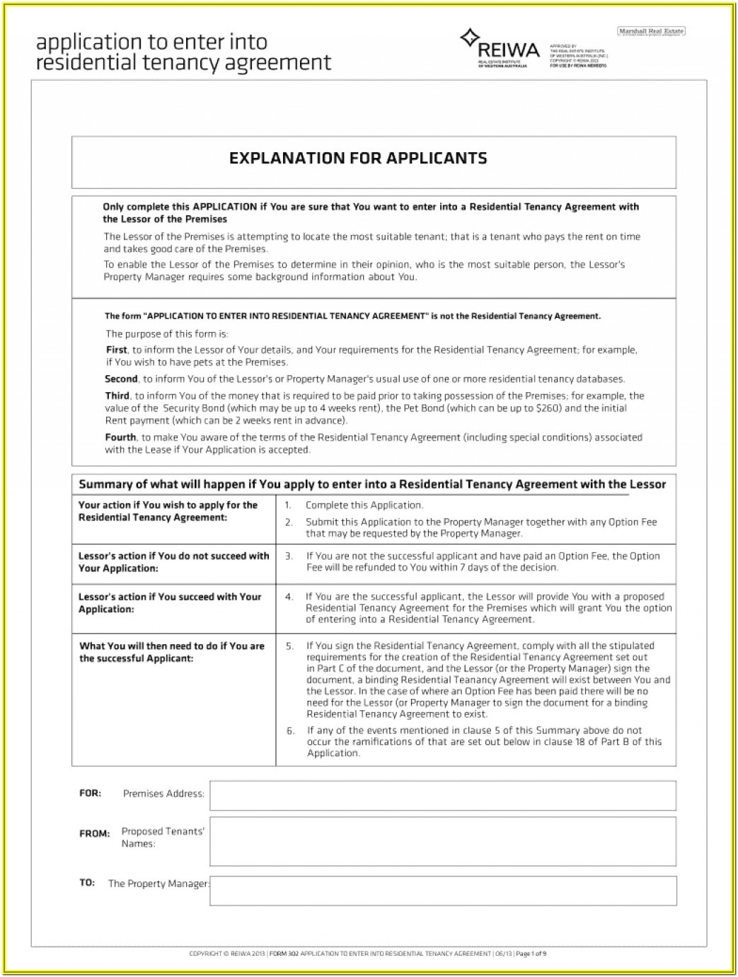 Residential Tenancy Agreement Form Bc
