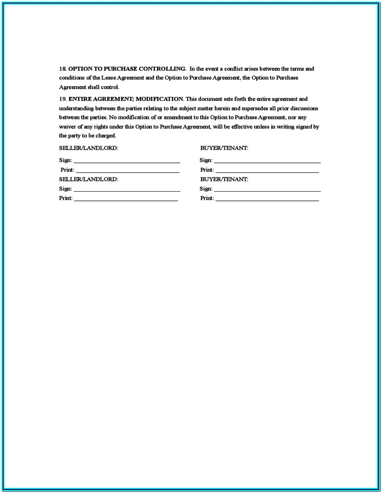 Sample Rent Agreement Form