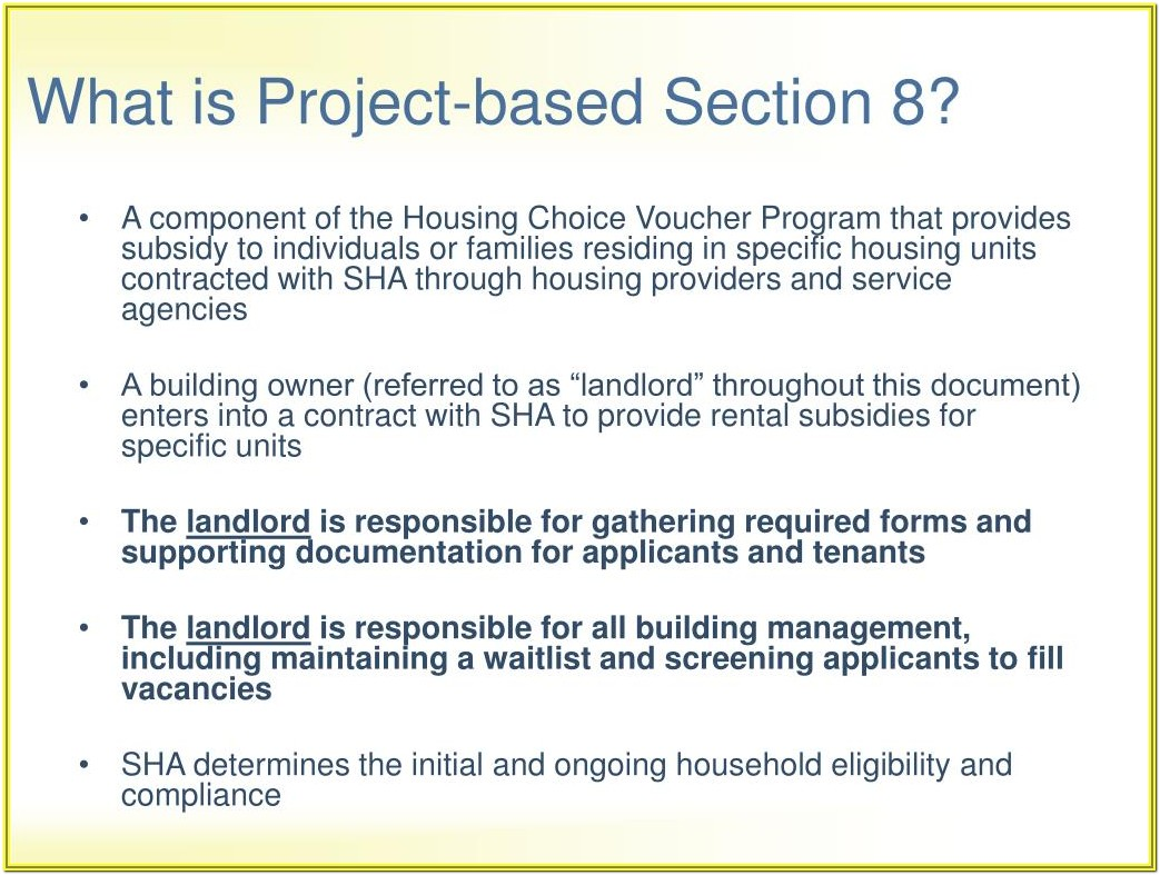 Section 8 Forms For Landlords