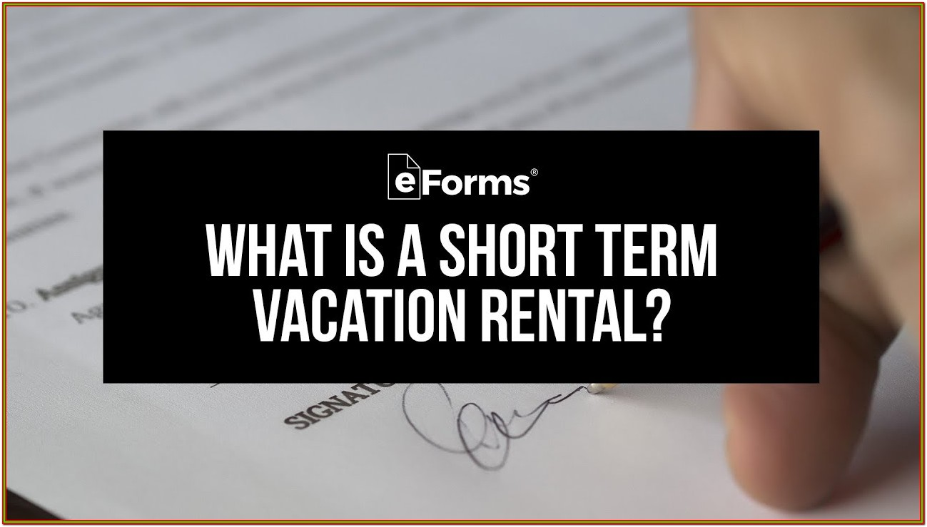 Short Term Rental Agreement Forms