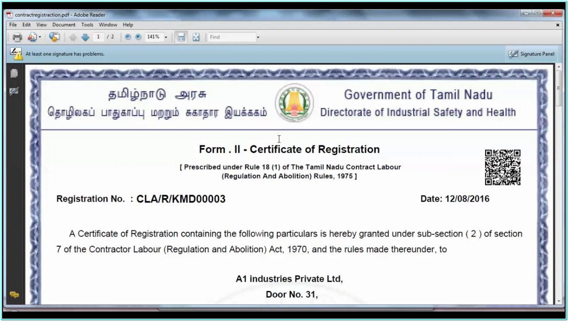 Ssi Registration Application Form