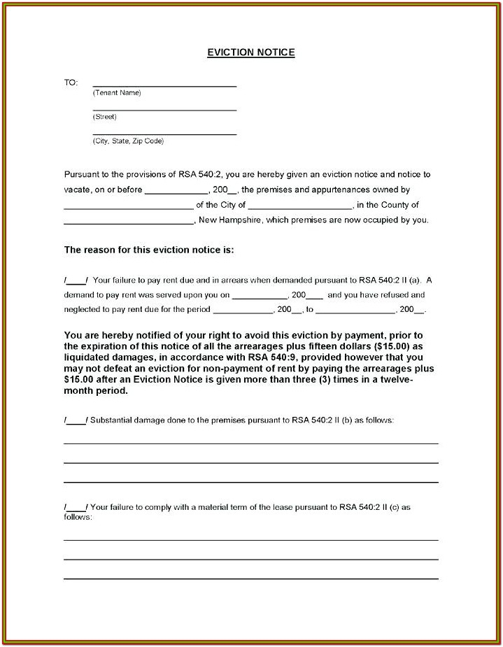 Standard Eviction Notice Form
