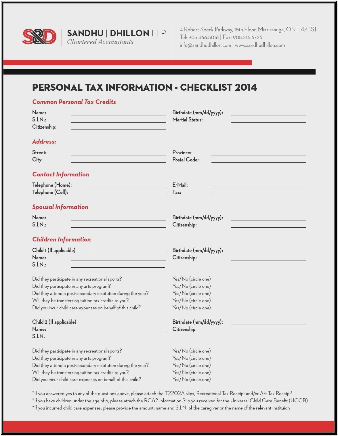 T2200 Income Tax Form