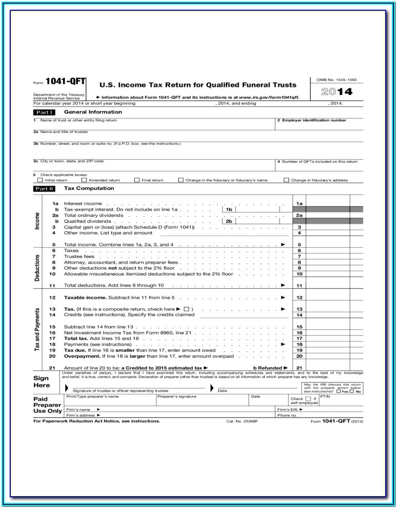 Tax Software Form 1041