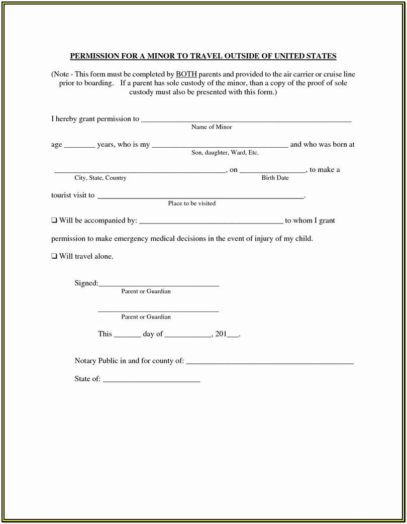 Temporary Guardianship Form Texas