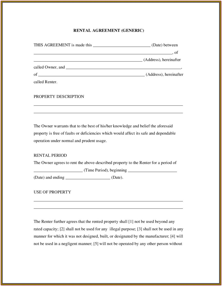 Texas Rental Agreement Forms