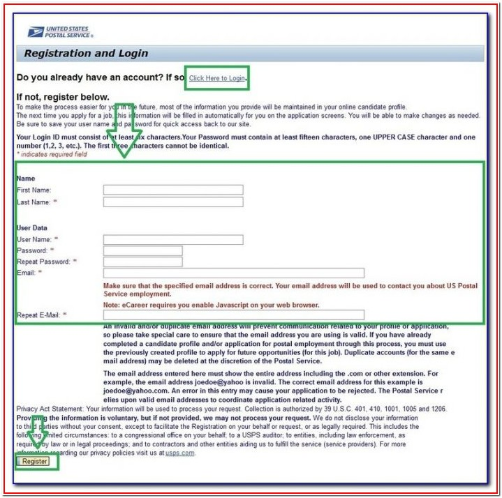 Usps Jobs Com Application Center