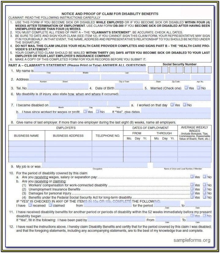 Va Disability Claim Forms