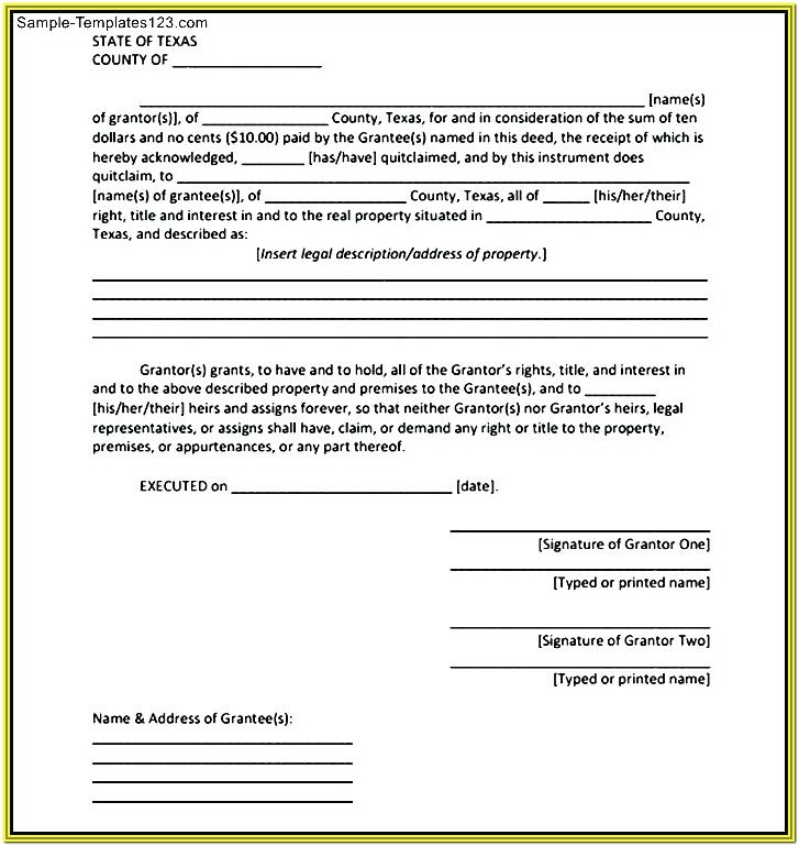 Virginia Quit Claim Deed Form Free