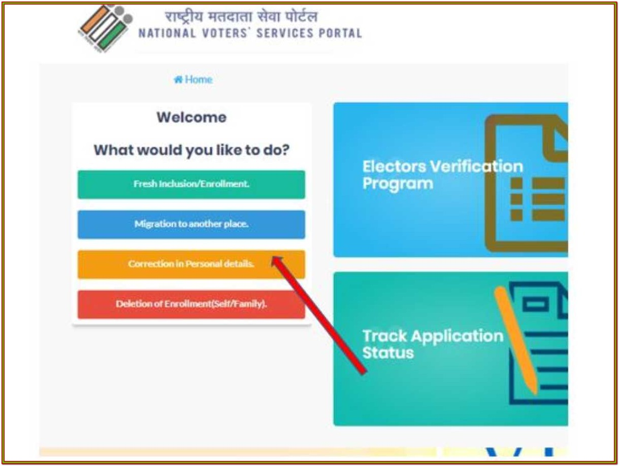 Voter Id Card Online Application Form