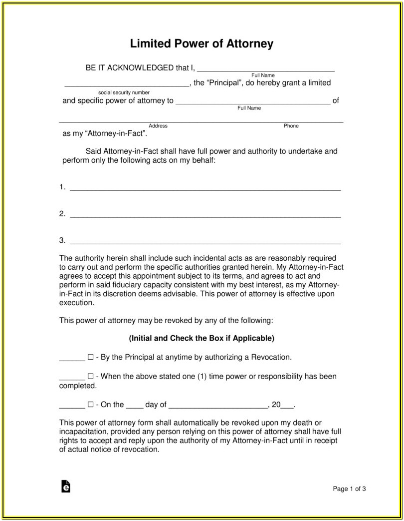 Where To Get Poa Forms
