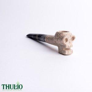 Stone Skull Pipe