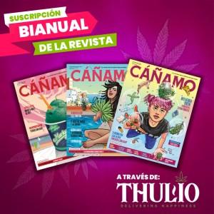 Suscripción bianual Revista Cañamo