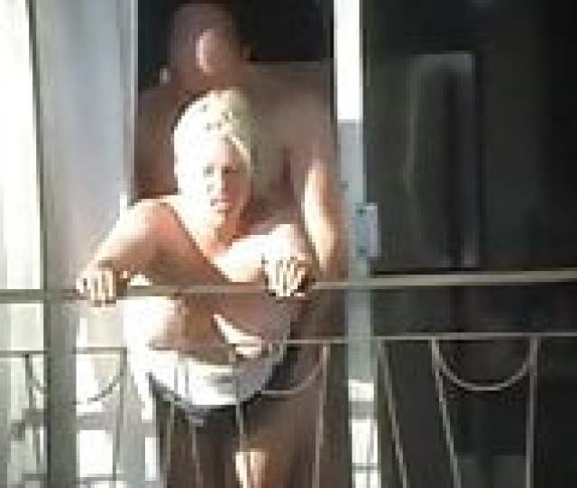 Sex And Balcony Voyeur Get Caught