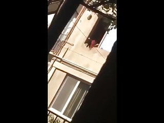 Neighbor's lover caught cheater – voyeur intercourse – spy cam