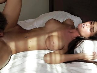 Petite brunette large knockers bang