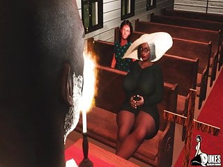 Tremendous Butt Granny catches the Pastor Fucking after church