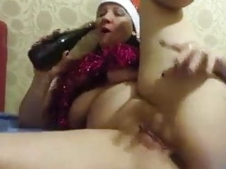 Anal play with bottle