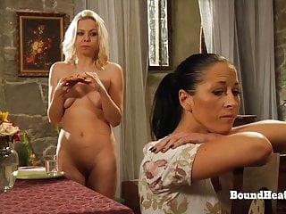 Lesbian Blonde Slave Takes A Bathtub In Entrance Of Dominant Madame