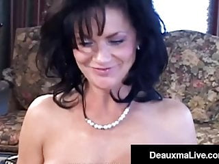 Busty Texas Cougar Deauxma Squirts With Fan Penis Up Her Ass!