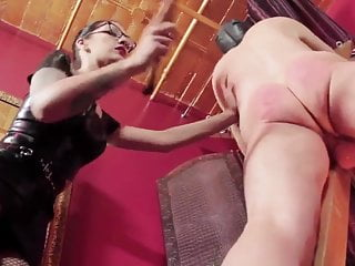 Domme And Nude male slave Caning HD Excerpt