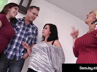 Thick Milf Sara Jay Busts Nut With Kimmie Lee & Alura Jenson