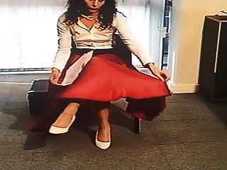 Office Girl in Satin Skirt 3