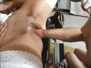 girl likes areolas coaching and fist with three males