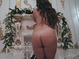 Busty girl performing elegant